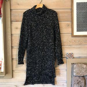 Zara Sweaters - Zara knit mock neck knit sweater dress sz medium